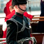 Bugler on board Havengore for Armistice Day Service