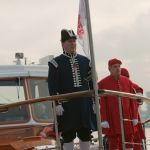 Dogget's Coat & Badge Winners in red and Bargemaster in blue