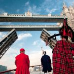 Tower Bridge opens as a mark of respect for Havengore on 11th November