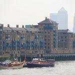 Havengore & Gloria moored at HMS President - Copyright Jonathan Duckworth