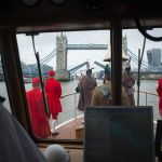 Tower Bridge is opened as a mark of respect