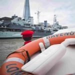 Photographers and news teams from the UK & around the world are aboard HMS Belfast to record this special event