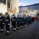 Bearer party get ready to leave Tower of London