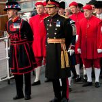 Maj Gen Cima and Yeoman Guard from the Tower of London